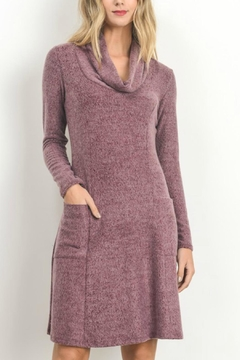 Shoptiques Product: Pink-Soft-Knit Sweater Dress