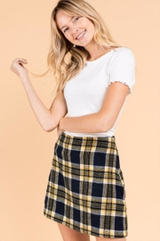 Gilli Plaid Mini Skirt - Product Mini Image