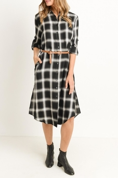 Gilli Plaid Shirt Dress - Product List Image