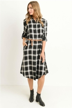 Shoptiques Product: Plaid Shirt Dress