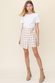 Gilli Plaid Wrap Skirt - Product Mini Image
