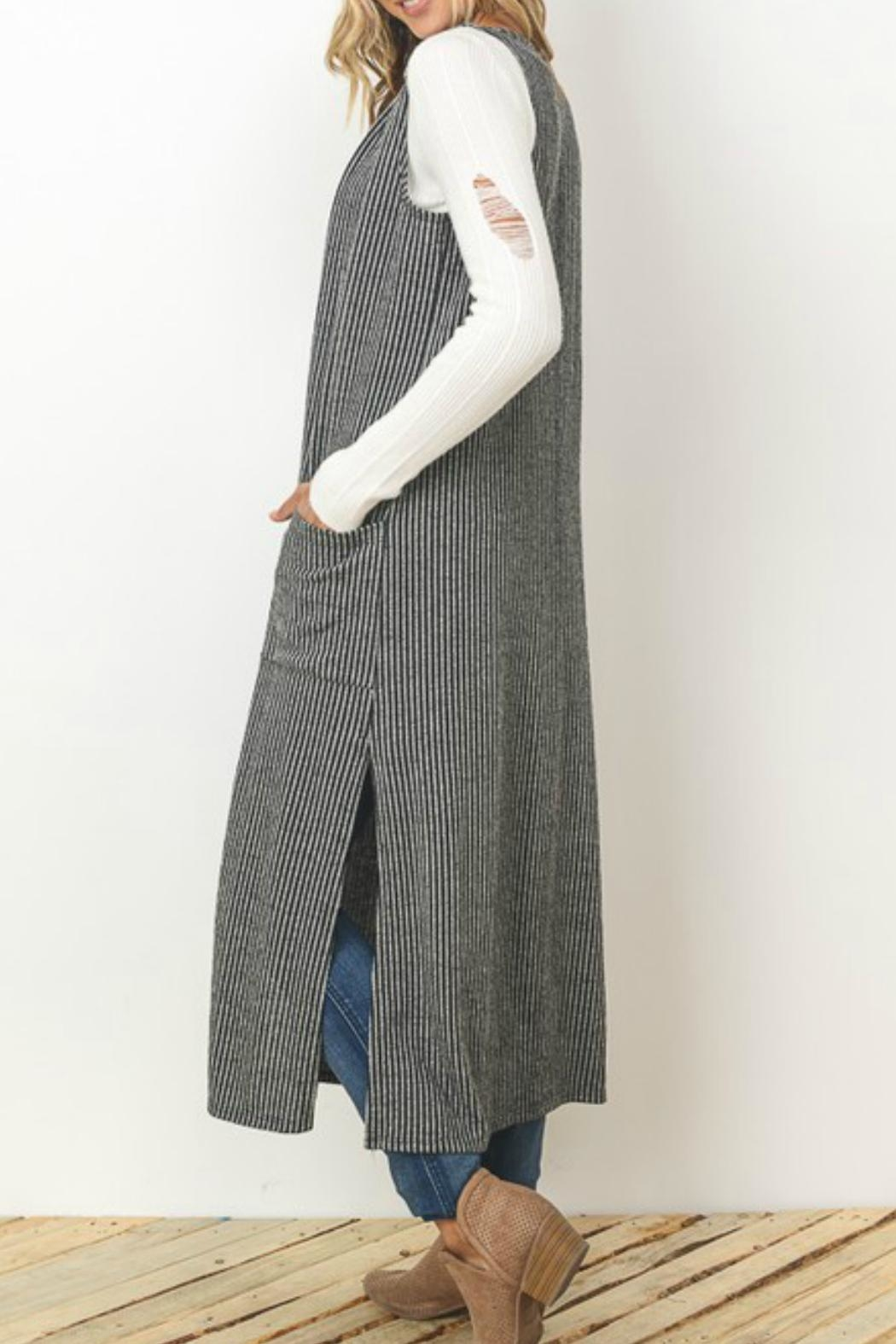 Gilli Pocketed Vest Cardigan - Front Full Image