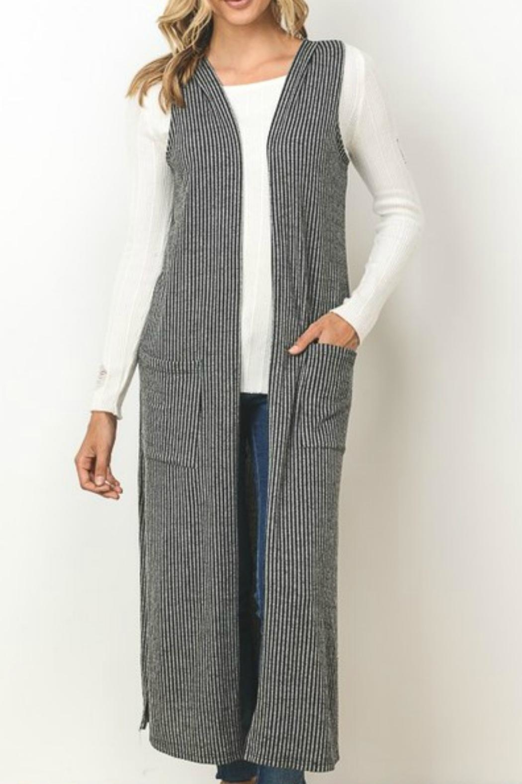 Gilli Pocketed Vest Cardigan - Main Image