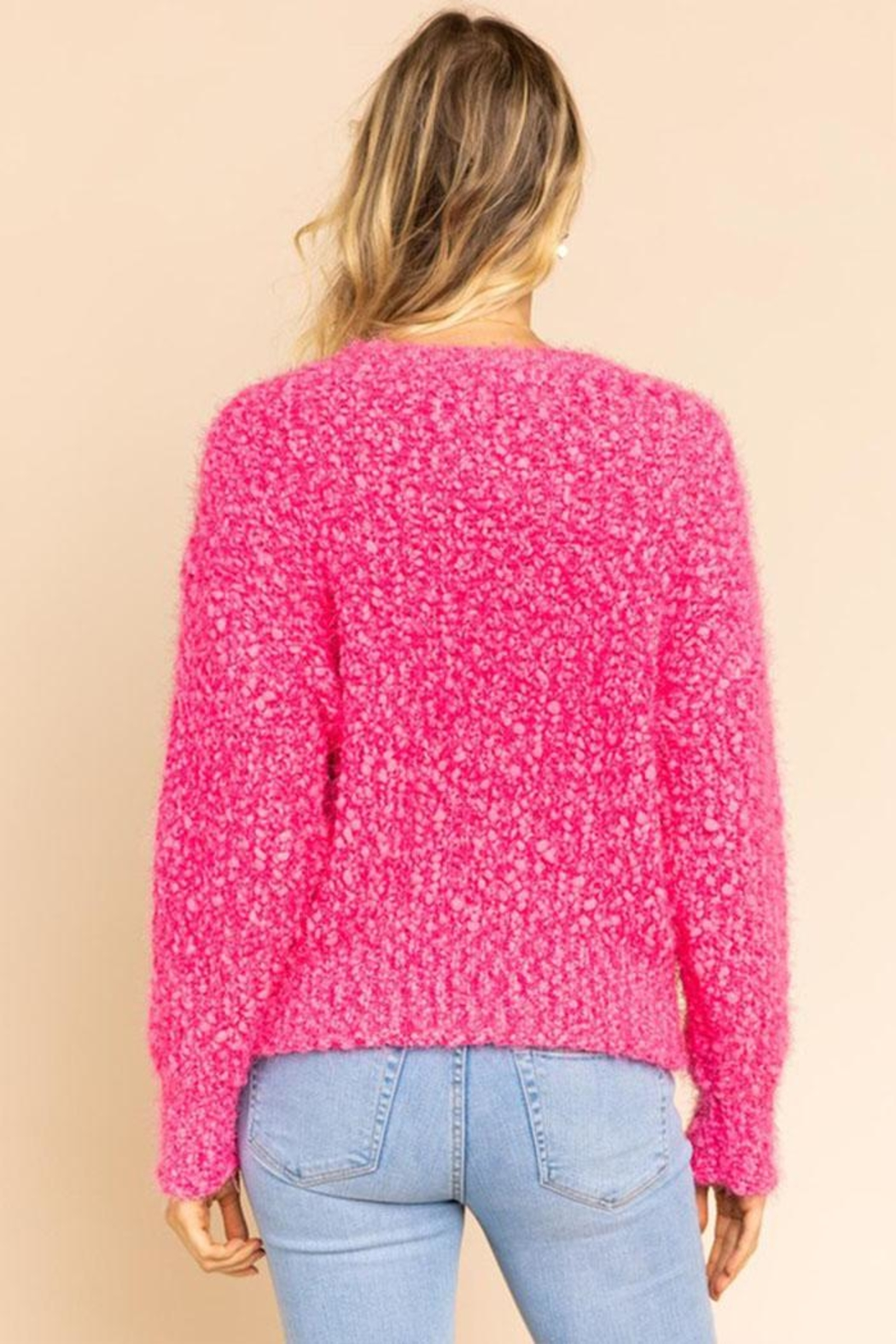 Gilli Popcorn Knit Sweater - Side Cropped Image