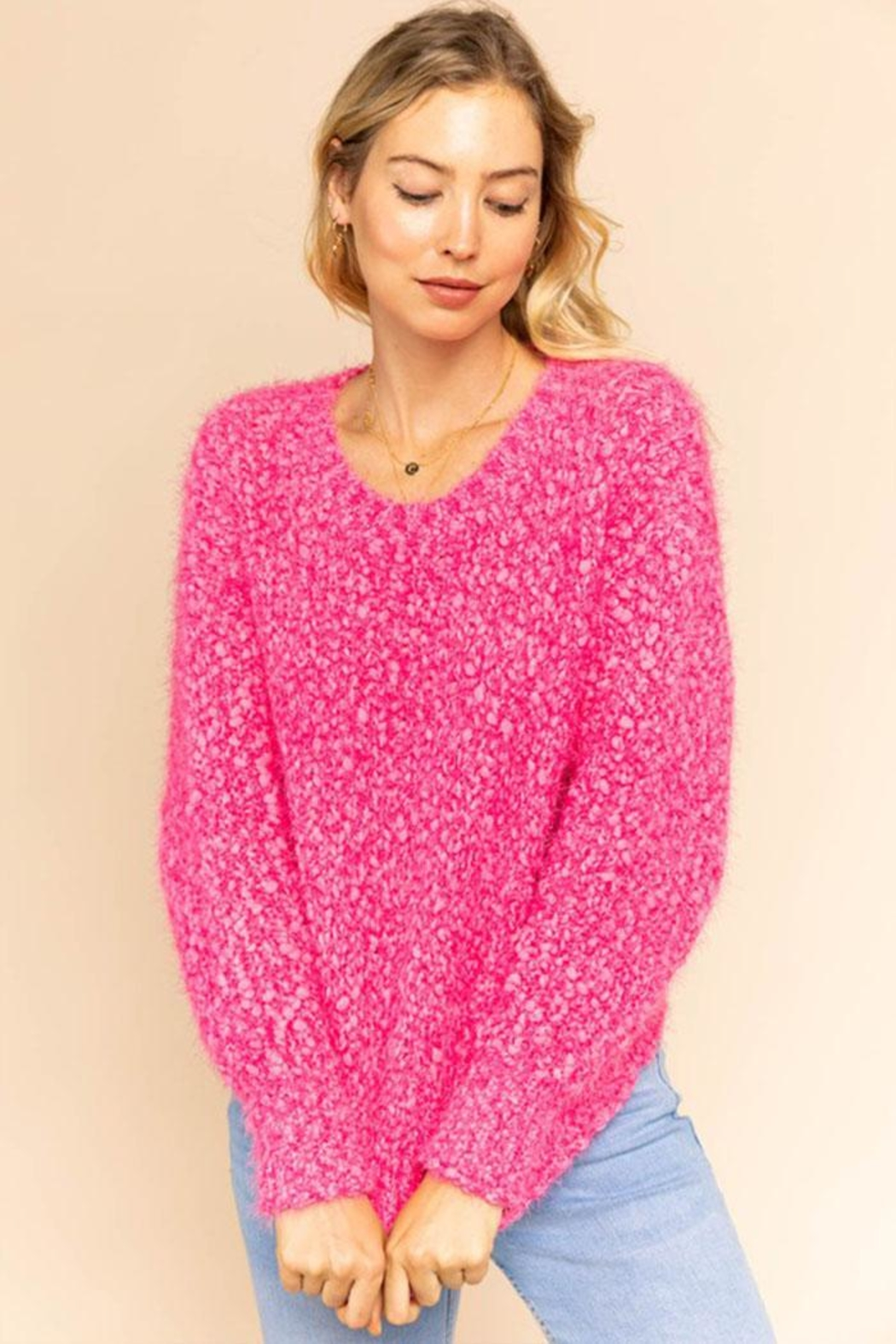 Gilli Popcorn Knit Sweater - Main Image