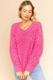 Gilli Popcorn Knit Sweater - Front cropped
