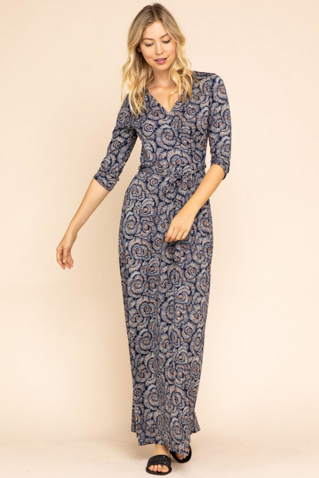 Gilli Printed Wrap Maxi - Front Cropped Image