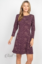 Gilli Purple Taupe Dress - Front cropped