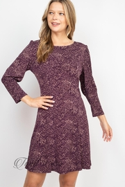 Gilli Purple Taupe Dress - Side cropped