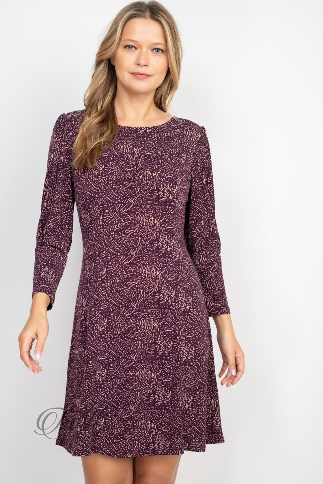 Gilli Purple Taupe Dress - Front Full Image