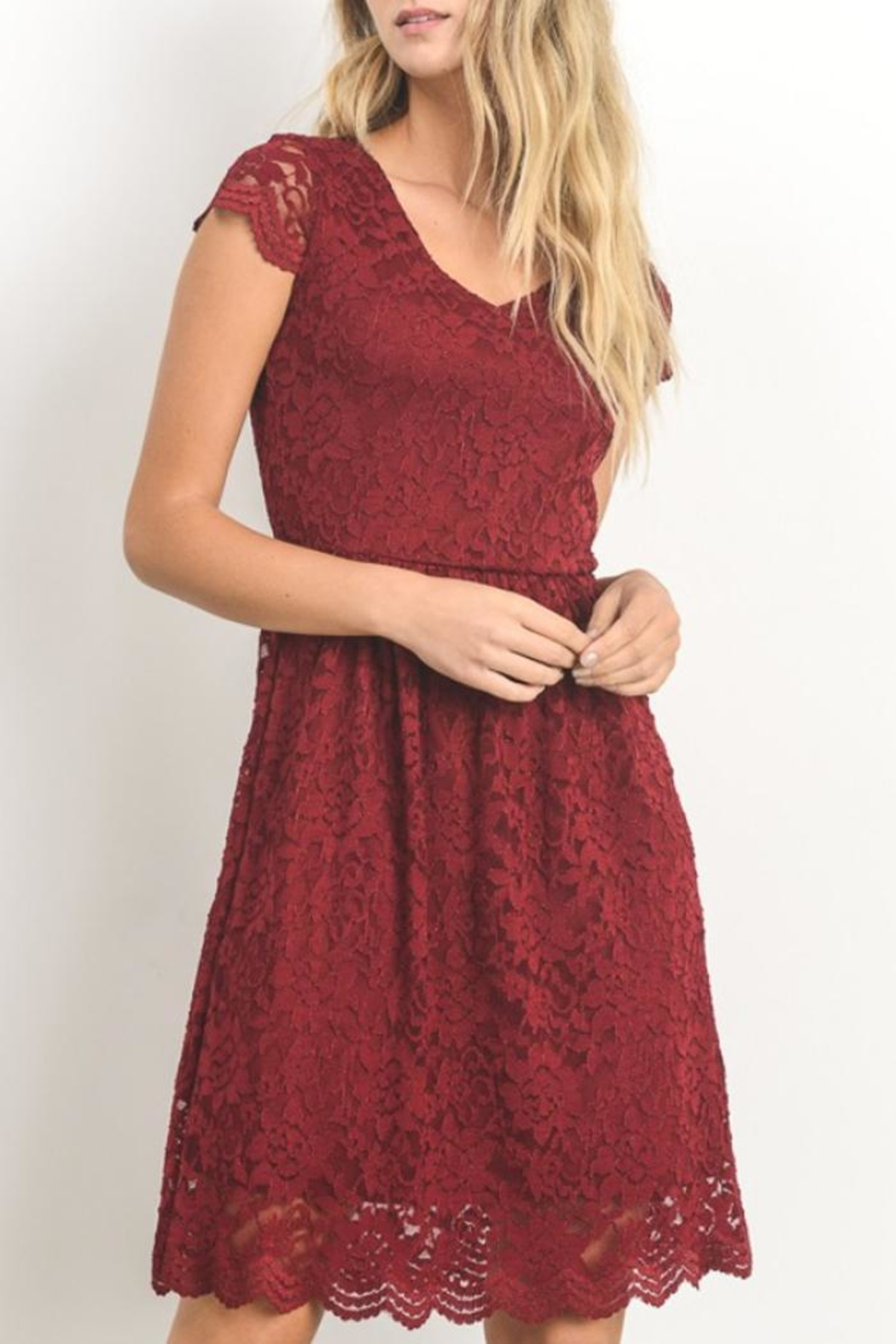 Gilli Red Lace Dress - Main Image