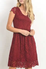 Gilli Red Lace Dress - Product Mini Image