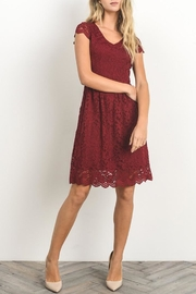 Gilli Red Lace Dress - Side cropped