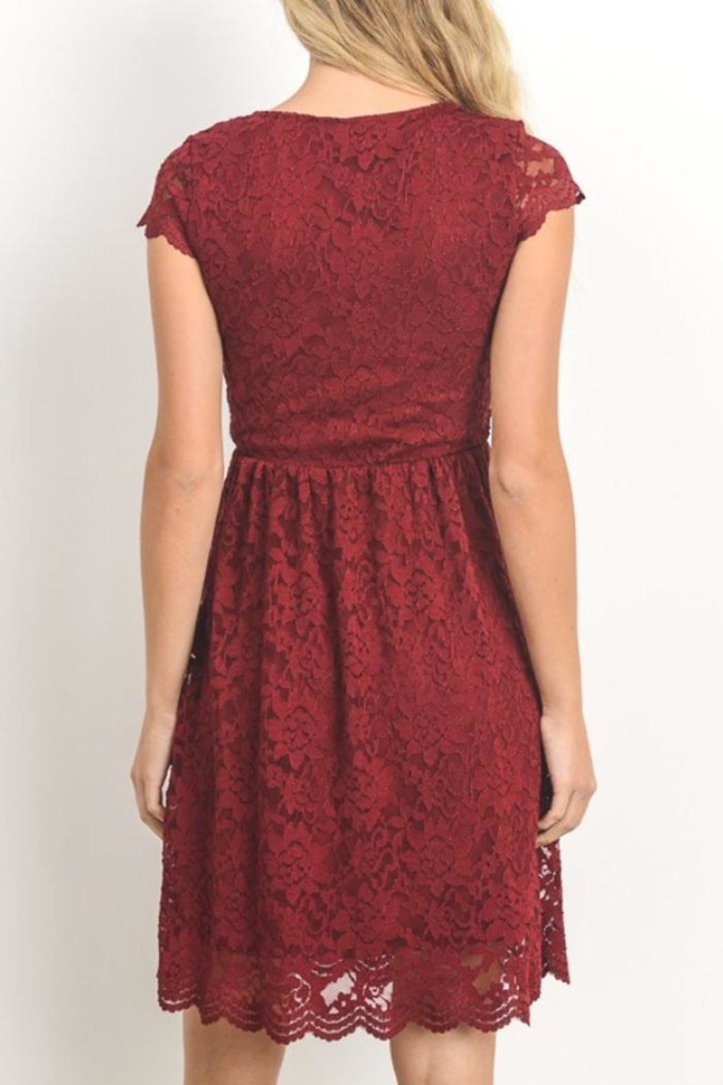 Gilli Red Lace Dress - Front Full Image