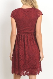 Gilli Red Lace Dress - Front full body