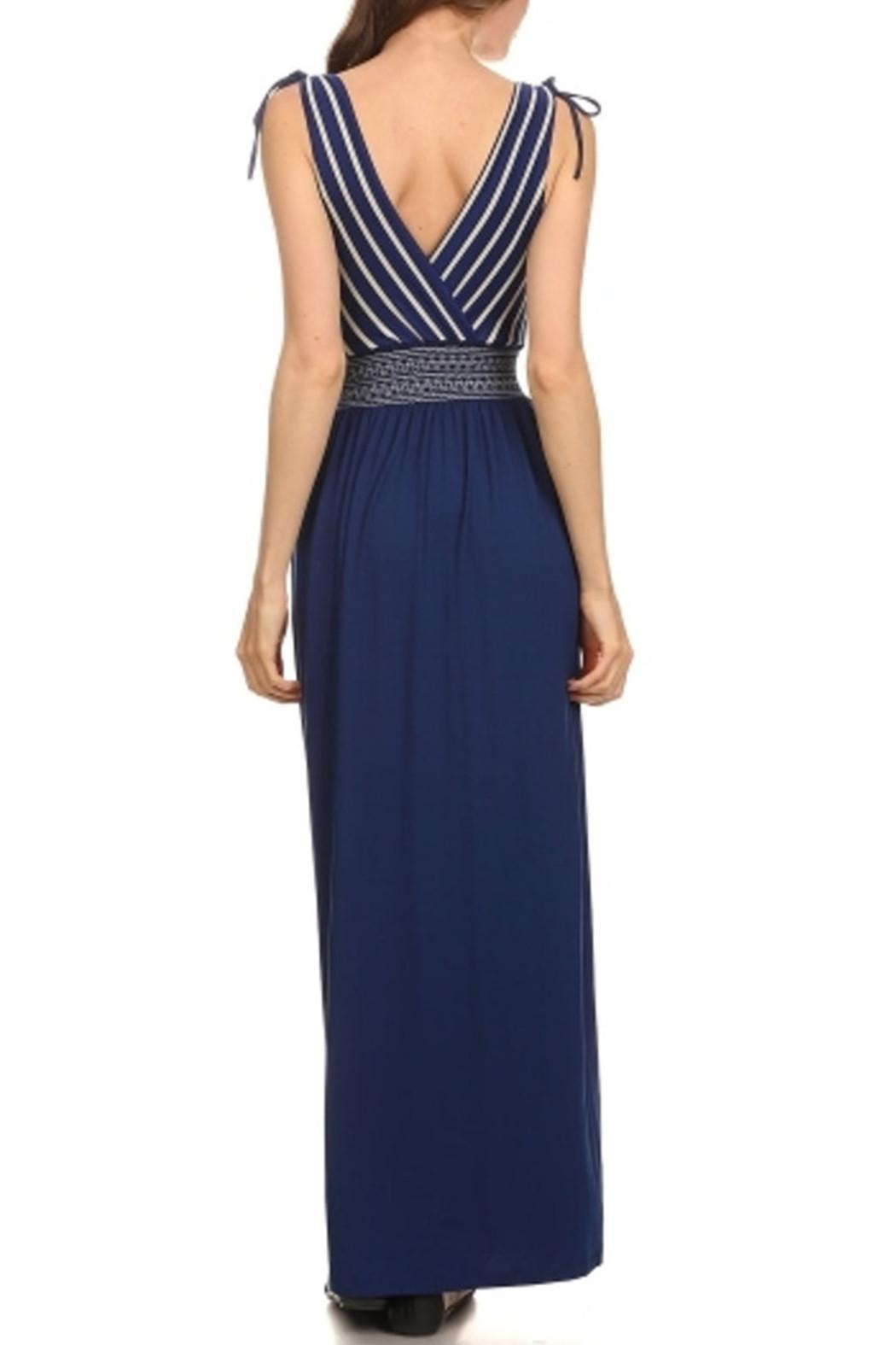 Gilli Royal Blue Maxi - Side Cropped Image