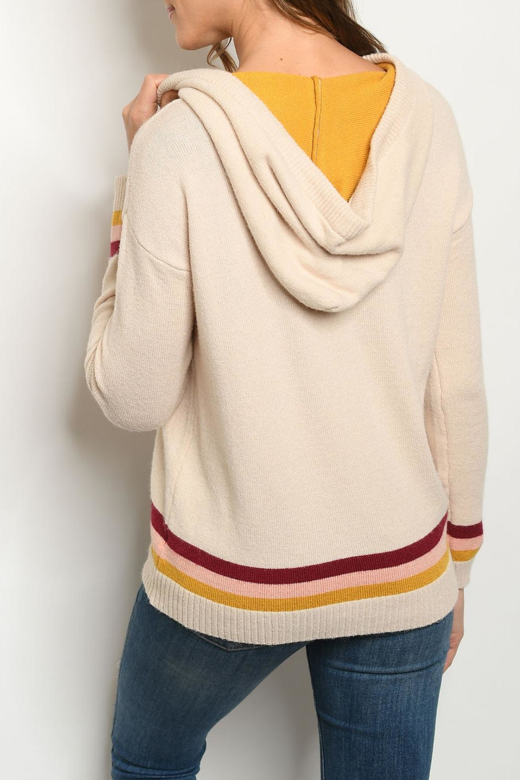 Gilli Sand Hooded Sweater - Front Full Image
