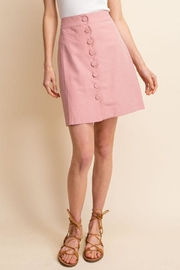 Gilli Scallop Button Skirt - Side cropped