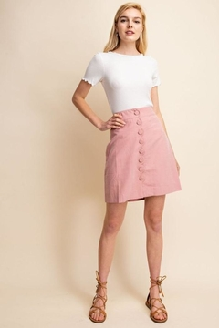 Gilli Scallop Button Skirt - Product List Image