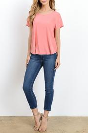 Gilli Draped Open Back Top - Front full body