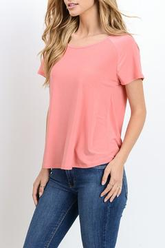 Gilli Draped Open Back Top - Product List Image