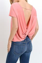 Gilli Draped Open Back Top - Back cropped