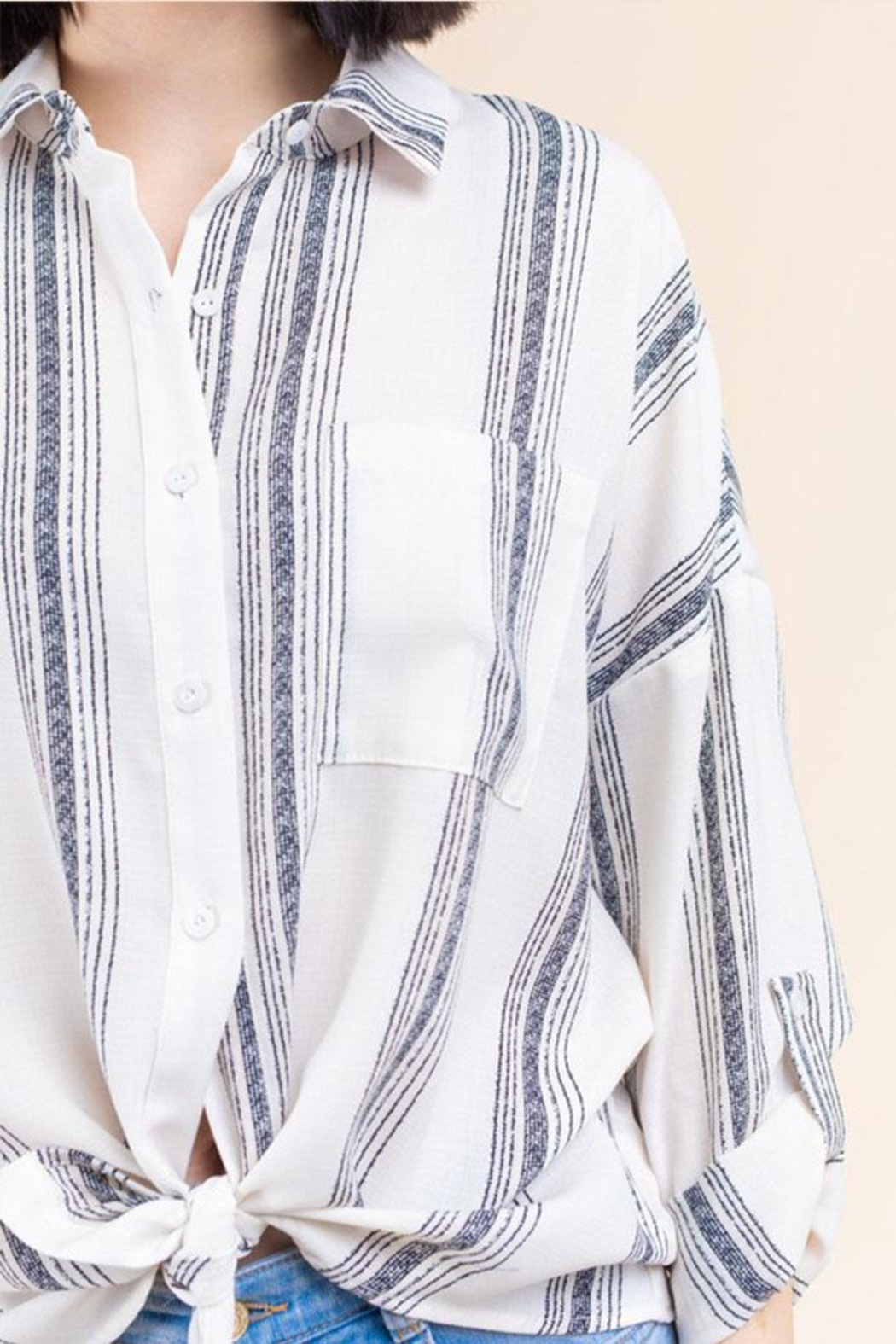 Gilli Stripe Button-Up Shirt - Front Full Image