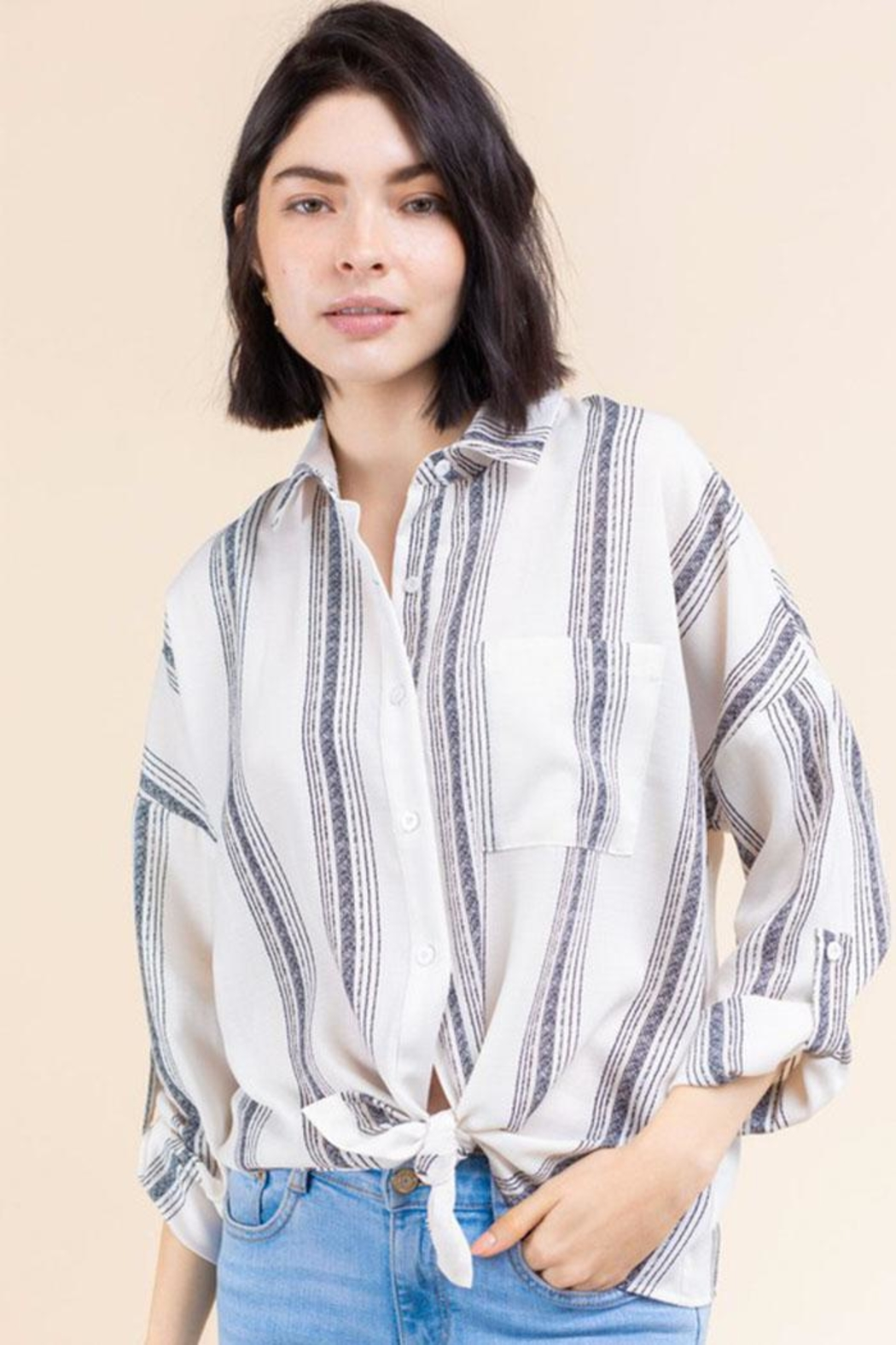 Gilli Stripe Button-Up Shirt - Main Image