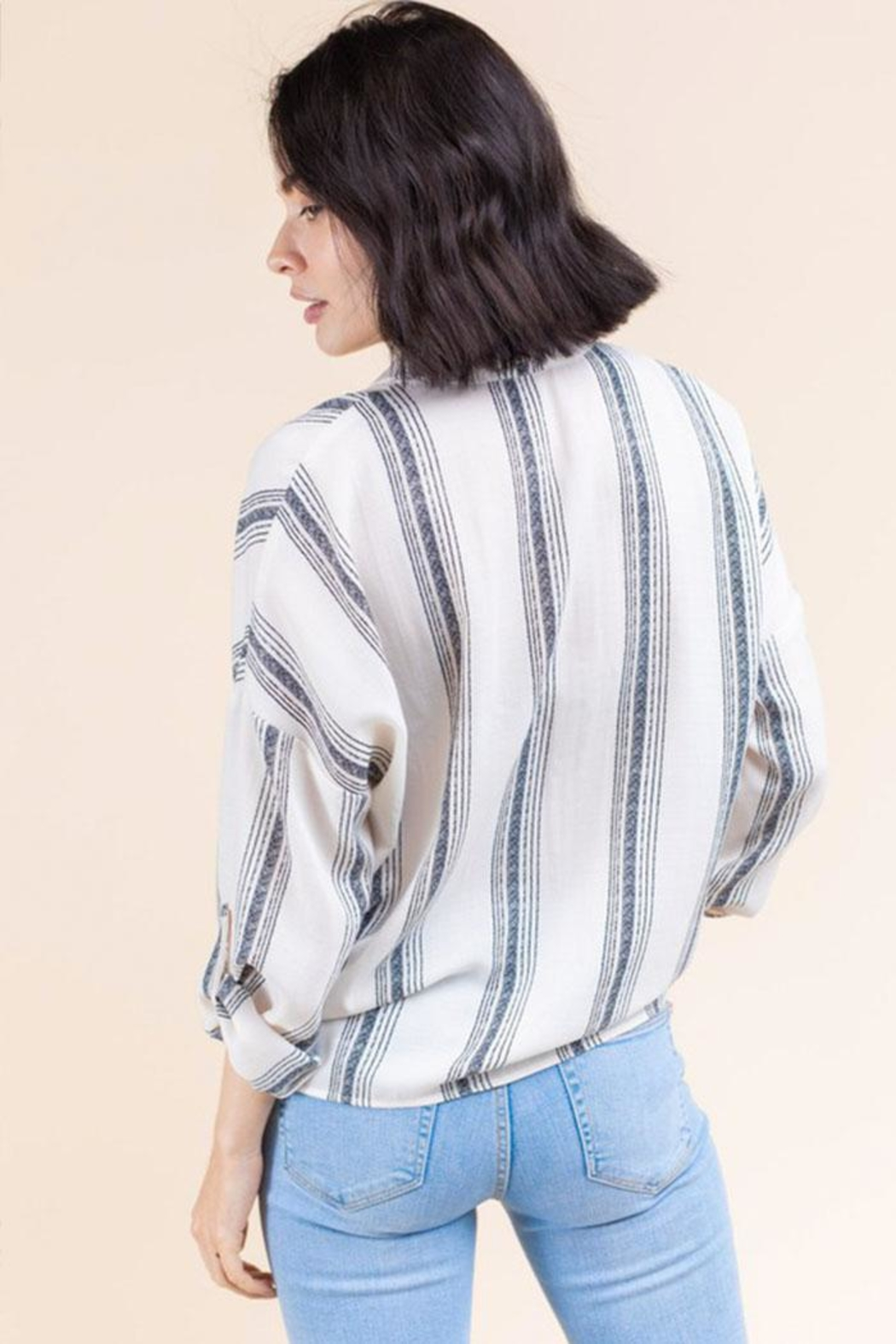 Gilli Stripe Button-Up Shirt - Side Cropped Image