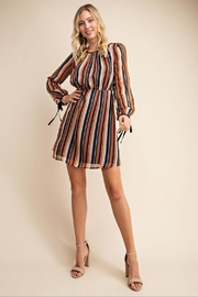 Gilli Striped Pouf Dress - Product Mini Image