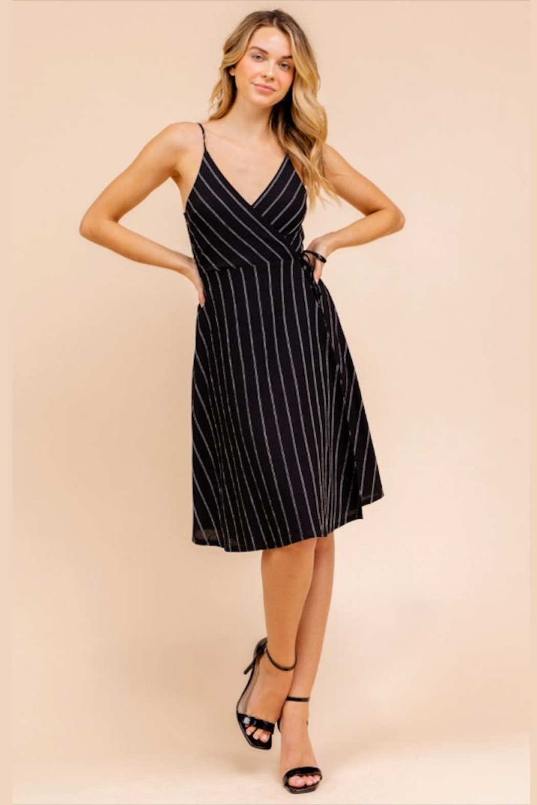 Gilli Striped Wrap Dress - Main Image