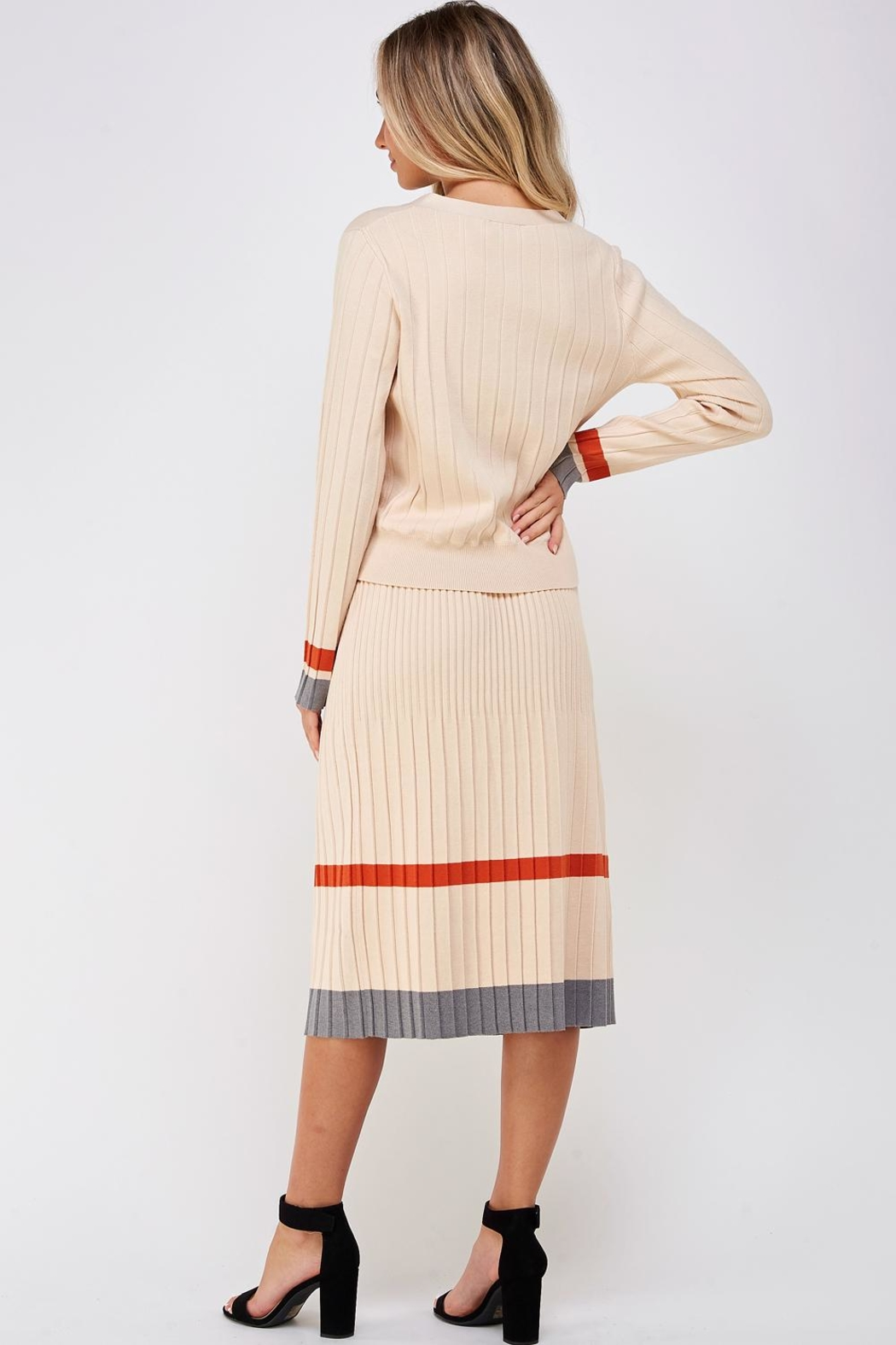 Gilli Sweater Skirt Set - Back Cropped Image