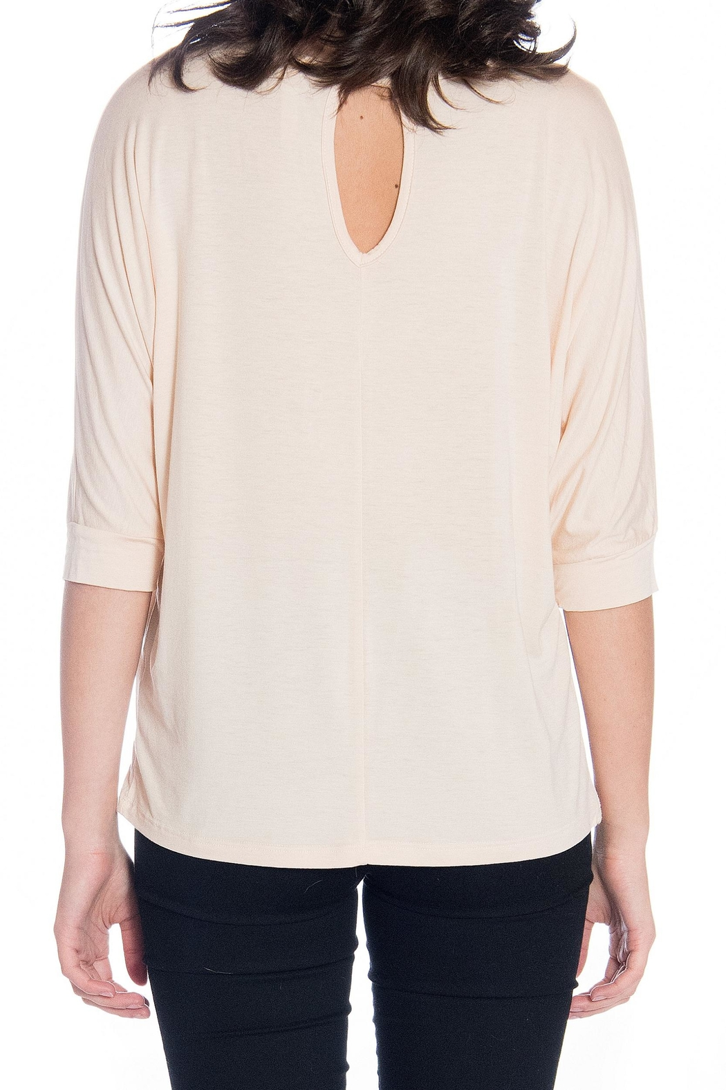 Gilli Tan 3/4 Blouse - Side Cropped Image