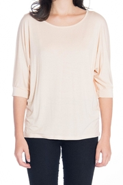 Gilli Tan 3/4 Blouse - Front cropped