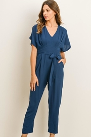 Gilli Teal Vneck Jumpsuit - Product Mini Image