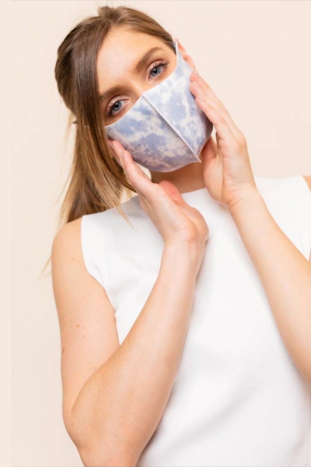 Gilli Tie-Dye Protective Face-Mask - Front Full Image