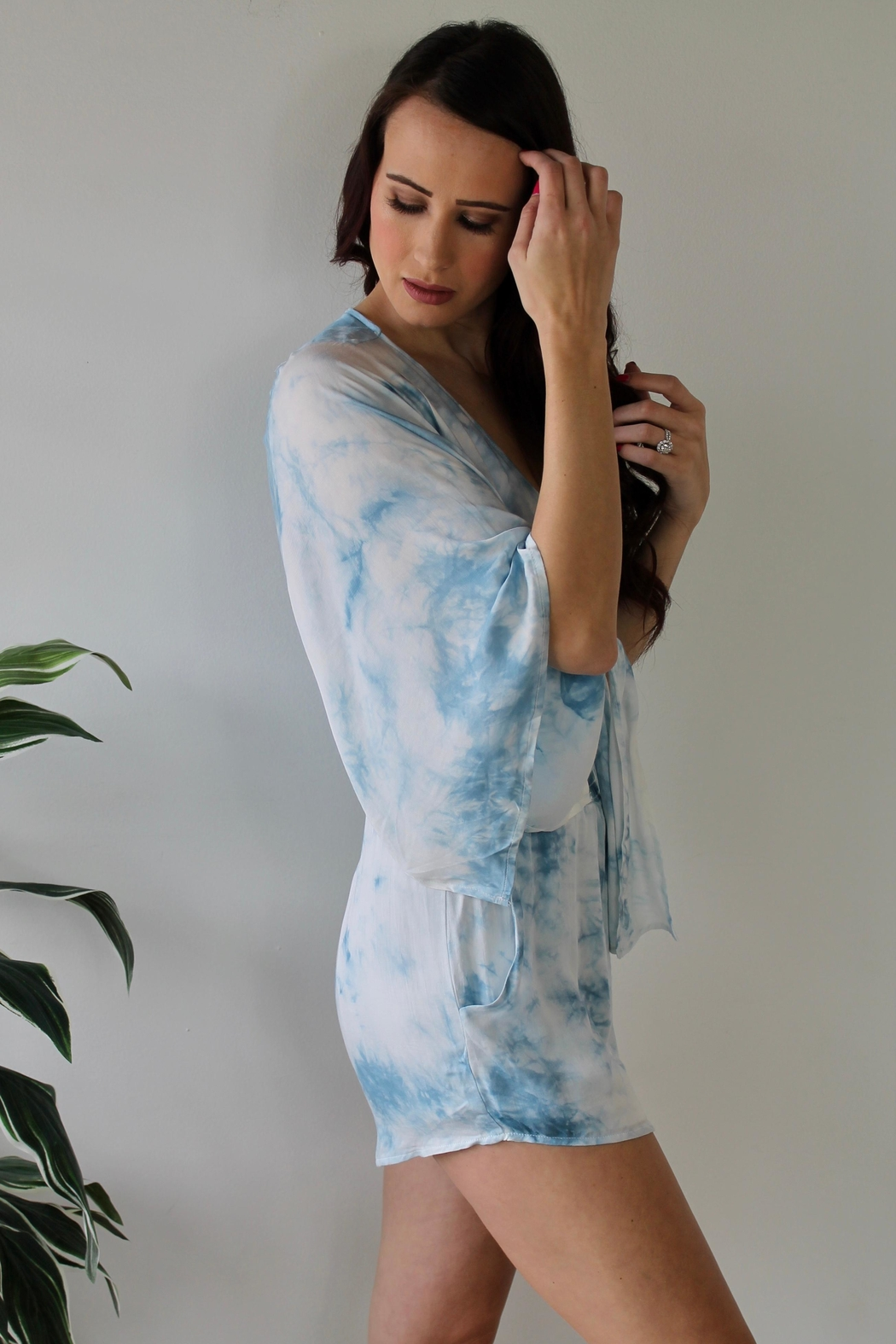 Gilli Washed Away Romper - Front Full Image