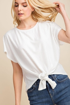 Gilli White Dots-Knot Top - Product List Image