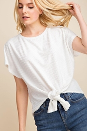 Gilli White Dots-Knot Top - Front cropped