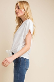 Gilli White Dots-Knot Top - Back cropped