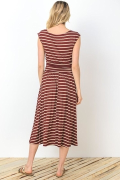 Gilli Wine Stripes Dress - Alternate List Image