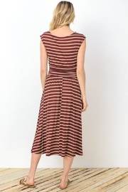 Gilli Wine Stripes Dress - Product Mini Image