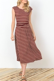 Gilli Wine Stripes Dress - Front cropped