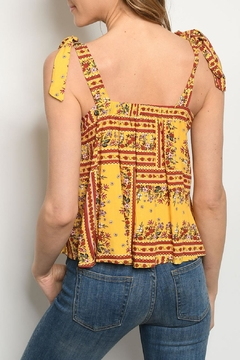 Gilli Yellow Floral Top - Alternate List Image