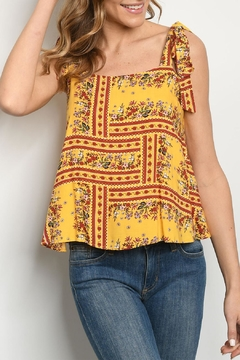 Shoptiques Product: Yellow Floral Top