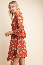 Gilli USA Rust Floral Wrap Dress - Other