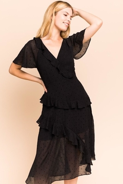 Gilli USA Stars Starring Black Layered Dress - Product List Image