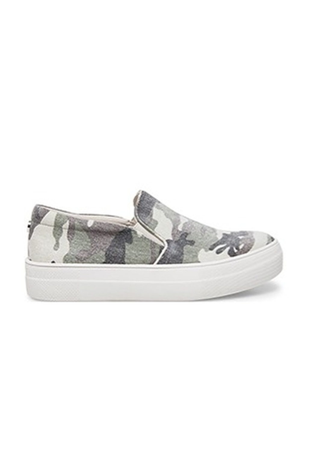 Steve Madden Shoes Gills Camo Sneaker - Front Cropped Image
