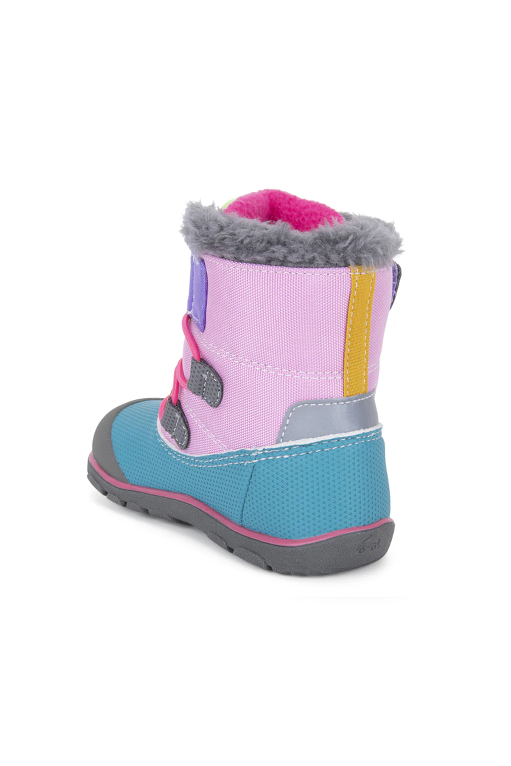 See Kai Run Gilman Waterproof Insulated Boot -  Pink/Teal - Front Full Image