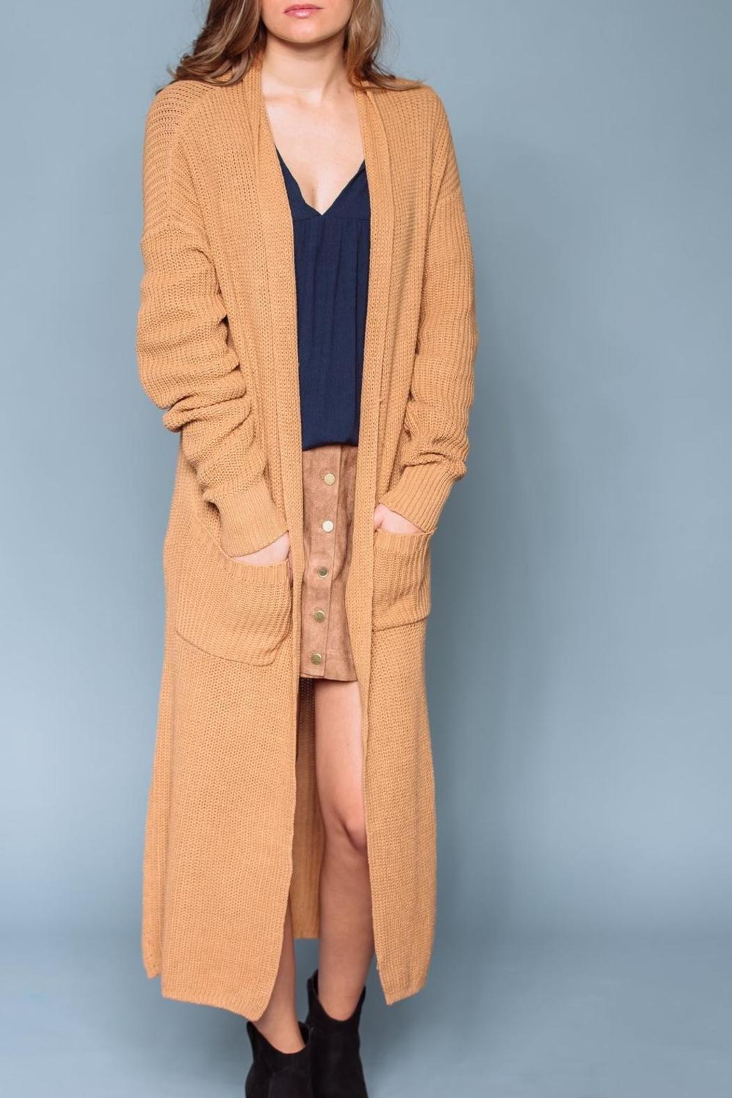 gilt gossamer Long Caramel Cardigan from Oregon by Gilt   Gossamer ...